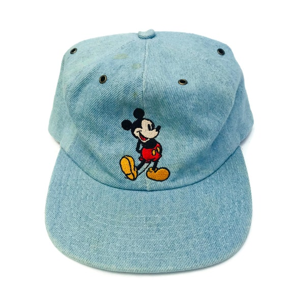 Vintage 90s Denim Mickey Mouse Hat  68b4c517112