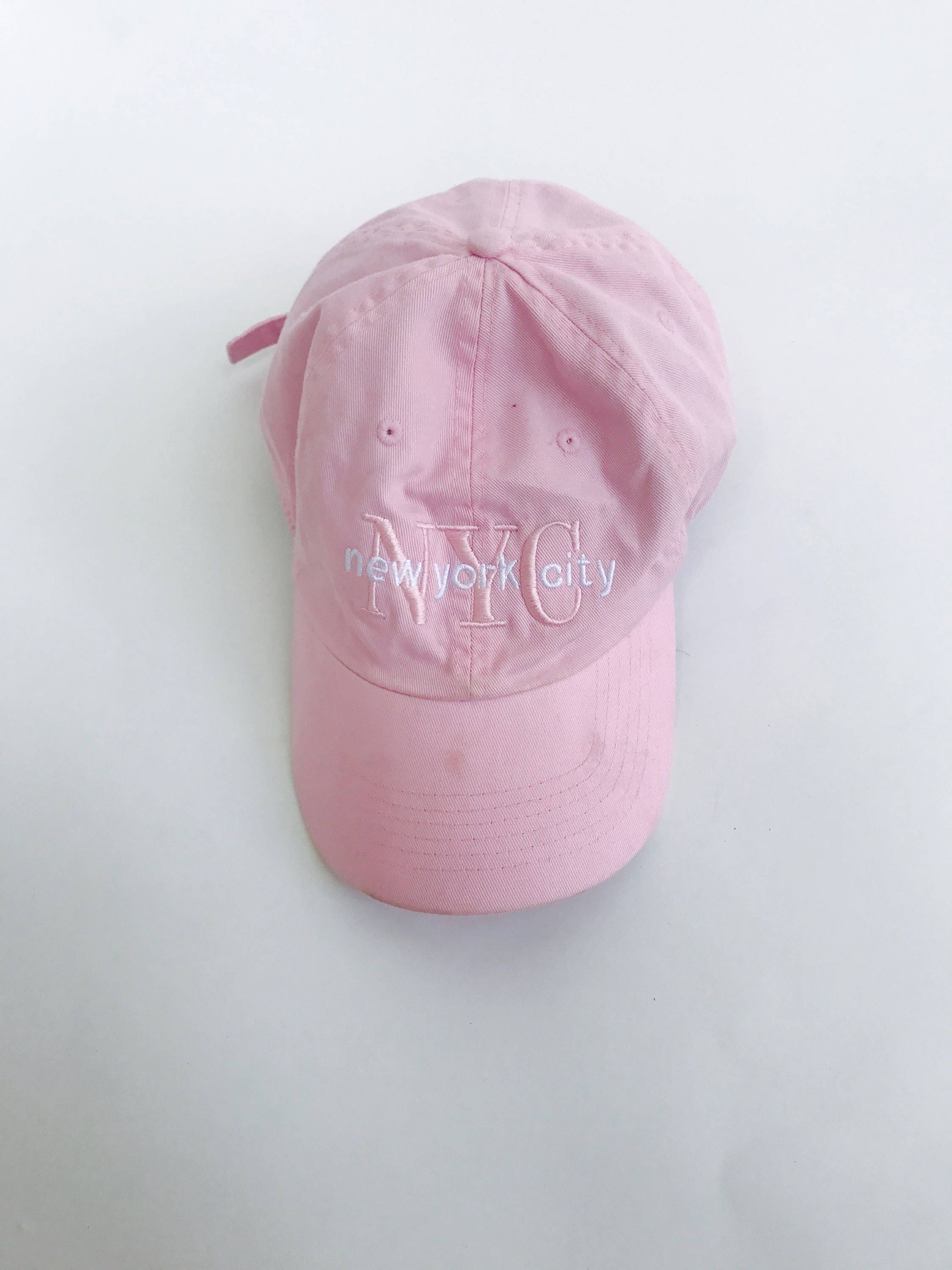 Baby Pink New York City Dad Hat  5d9ad469be5