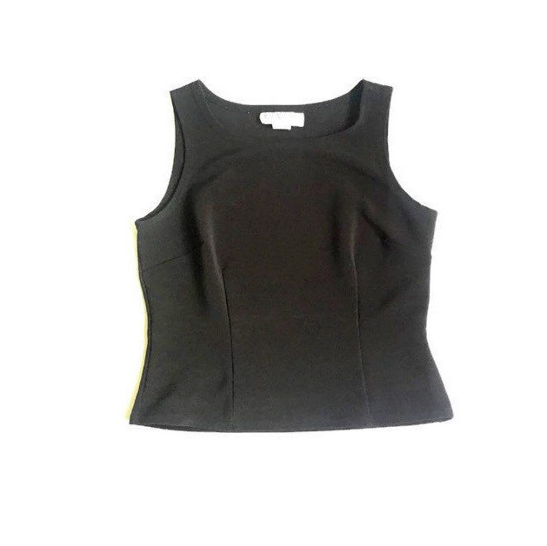 1633525cac0 Black Fitted High Neck Sleeveless Blouse Top