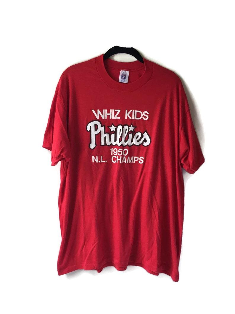 1960e625 Vintage Phillies Baseball Whiz Kids T-shirt   Etsy