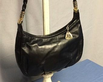 Morris Moskowitz, Black, Leather Purse, Designer Handbag