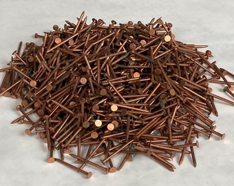 """2 LB Copper Nails, 3D, 1 1/4"""" Copper Roofing Flashing Nails"""