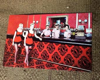Holiday Inn Postcard Souvenier Springfield, MO, RED SLIPPER Cocktail Lounge, Bar, Color Post Card, Rare Post Card,Ephemera, Free Shipping