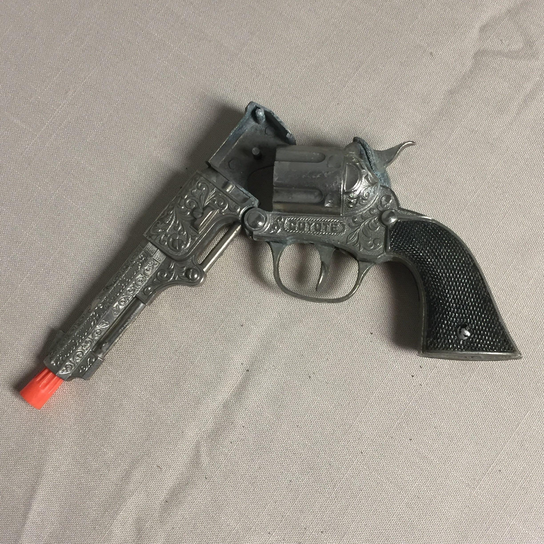 Hubley Coyote Toy Cap Gun, 1950's, Toy Cowboy Gun, Cap Gun, Toy