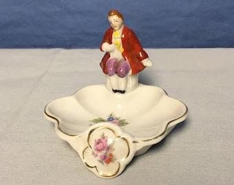 Vintage Porcelain Paulux Oyster Dish, Made in Japan, China Dresser Dish,