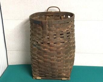 Antique Trappers Basket, Hunter's Basket, Adirondack Pack Basket, Foraging, Gathering Basket, Traditional North American Basket