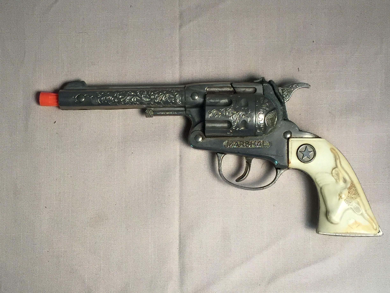 Hubley Marshal Toy Cap Gun, 1950's, Toy Cowboy Gun, Cap Gun