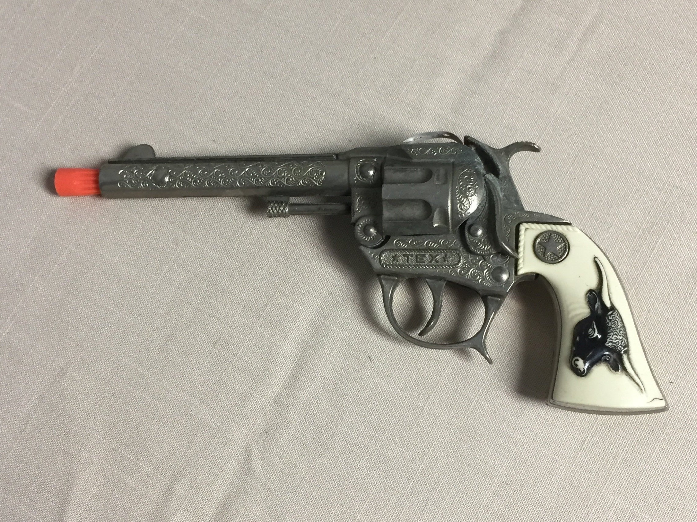 Hubley Tex Toy Cap Gun, 1950's, Toy Cowboy Gun, Cap Gun, Toy