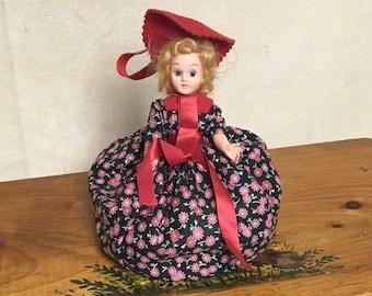 Souvenir Doll Purse, Zippered Pouch Handbag, Wristlet, Doll Body Purse, International Doll Purse, Austria Doll