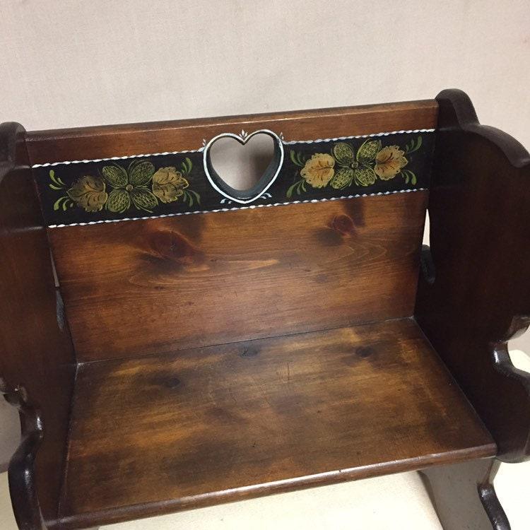 Pleasant Vintage Wooden Childs Bench Teddy Bear Bench Doll Bench Inzonedesignstudio Interior Chair Design Inzonedesignstudiocom