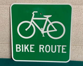A Real Pennsylvania BIKE ROUTE Street Sign, Authentic Road Highway Sign, Man Cave