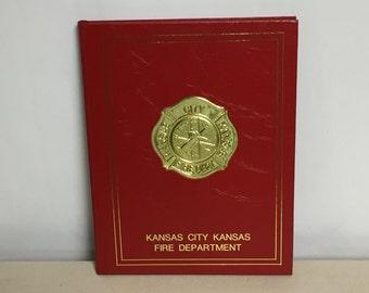 Kansas City Kansas Fire Department 1887-1992, Kansas, Fire Station History, Commemorative Firefighter Book