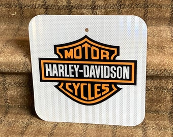 """Metal Harley Davidson Motorcycles Sign 3M Prismatic Reflective Surface .080"""" Thick Aluminum"""