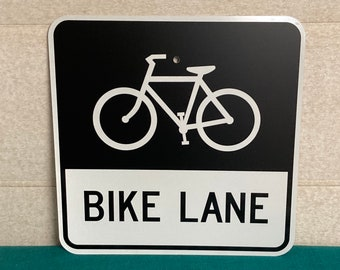 A Real Pennsylvania BIKE LANE Street Sign, Authentic Road Highway Sign, Man Cave