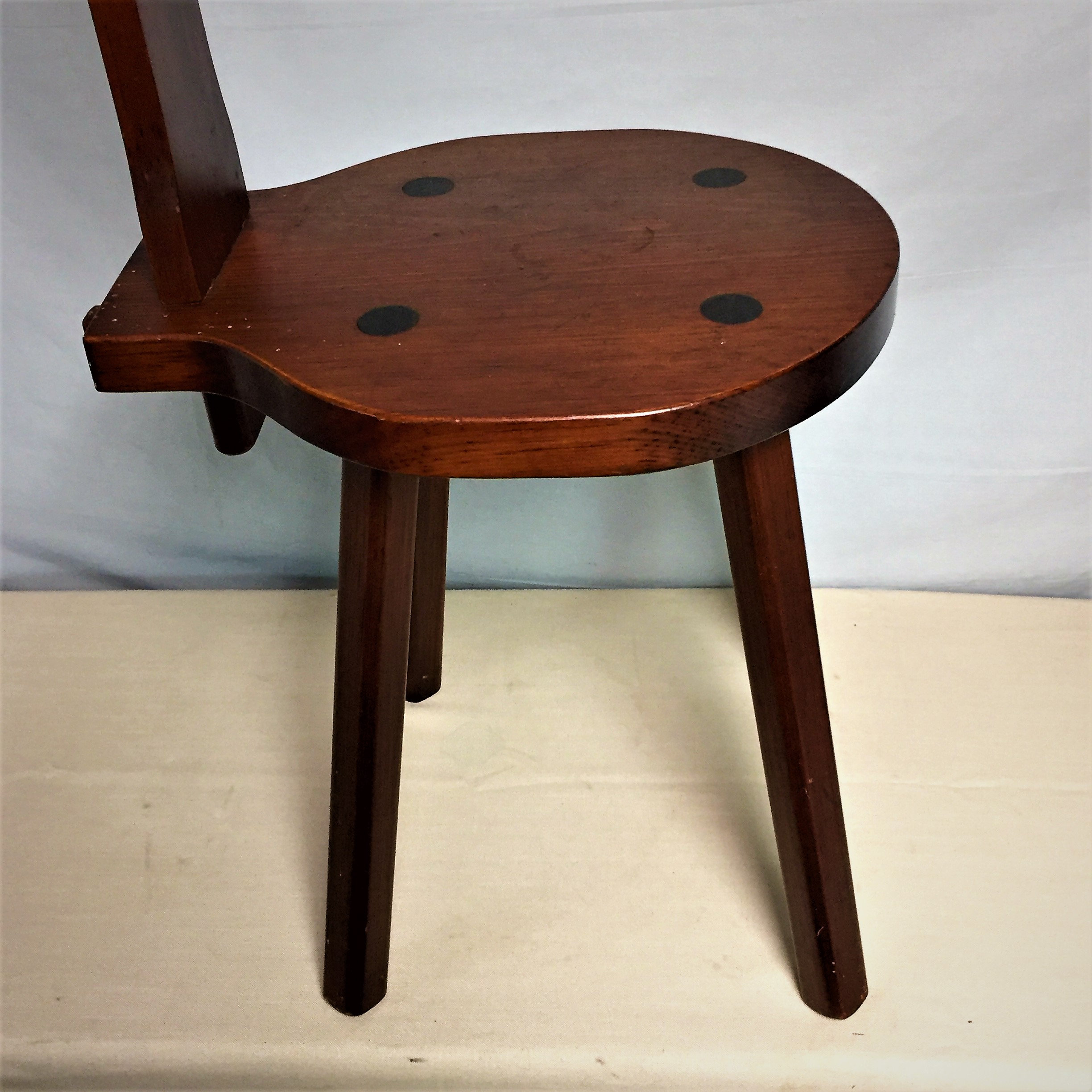 Astounding Solid Wood Welsh Spinning Chair Folk Art Spinning Stool Inzonedesignstudio Interior Chair Design Inzonedesignstudiocom