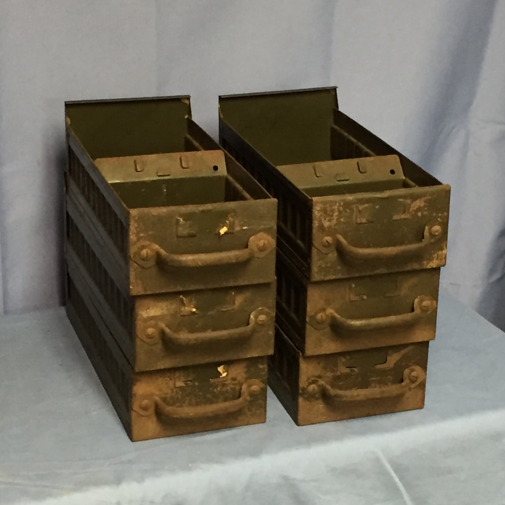 RESERVED For Ty 7 Vintage Industrial Steel Parts Drawers, Old Green EQUIPTO Hardware  Drawers, Cubbys, Hardware Storage,