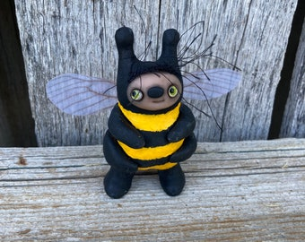 Bee with green eyes