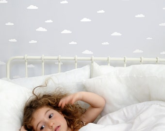 Clouds Wall Stickers - Clouds Wall Stickers  Nursery Decor - Clouds Bedroom Decor - White Clouds Sticker