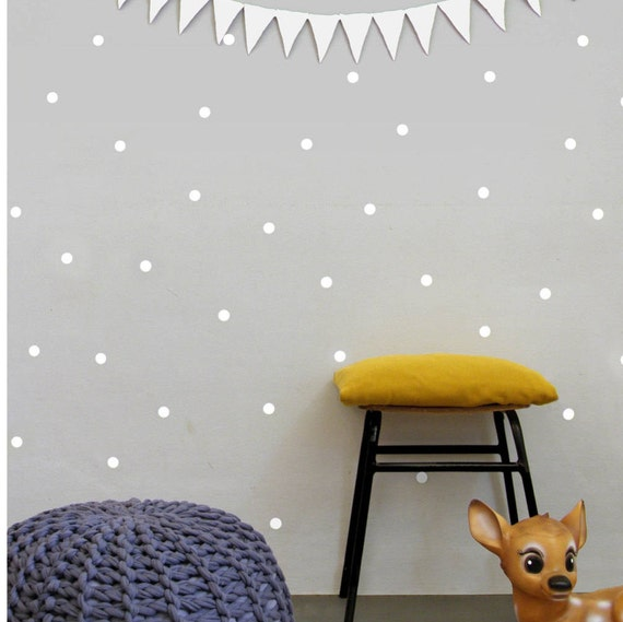 white dot wall decals polka dots wall stickers nursery wall | etsy