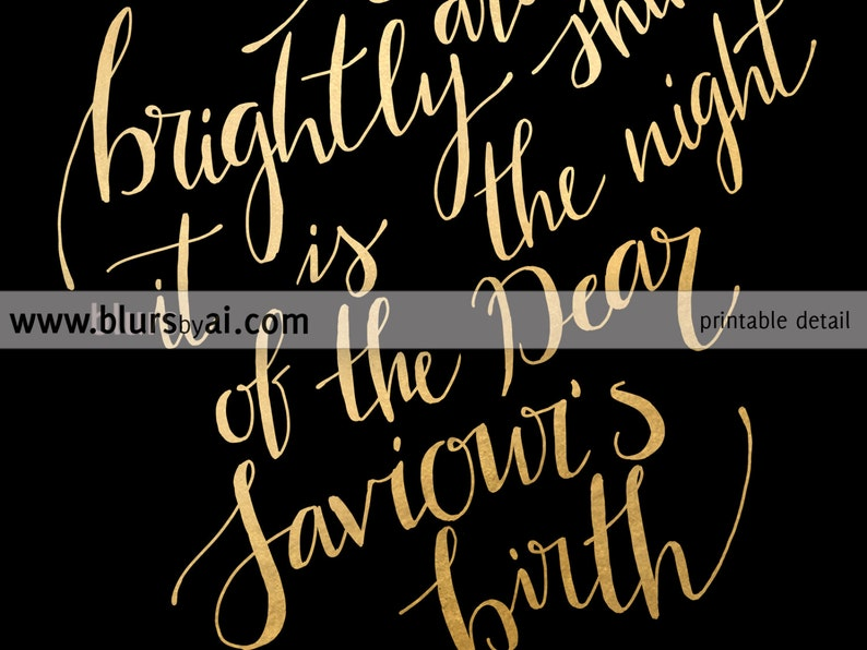 O holy night lyrics Christmas carol lyrics printable | Etsy