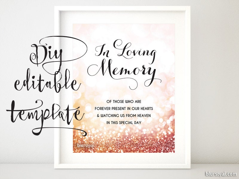 It's just a graphic of Revered In Loving Memory Free Printable