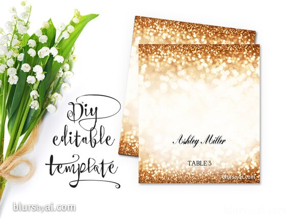 Printable Escort Cards Place Cards Template For Precut