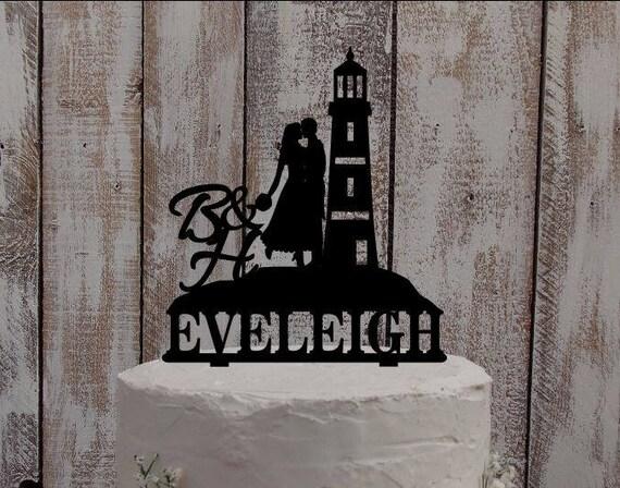 Cake Topper Leuchtturm Meer Kuchenfigur Hochzeitstorte Etsy
