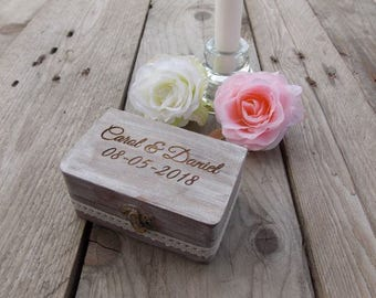 Ring box 'Rustic '- Ring bearer box, wedding, wedding decoration, rings, ring pillow