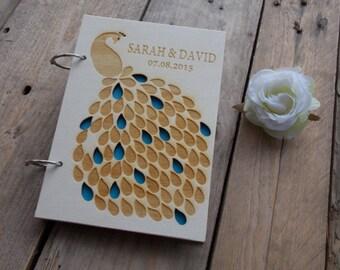 """Wedding Guestbook """"Peacock"""""""