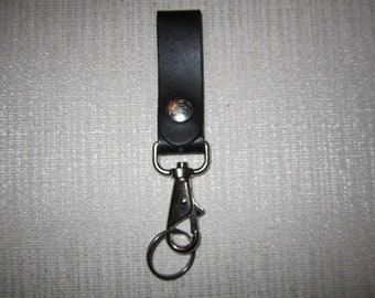 Leather key chain with quick release clasp