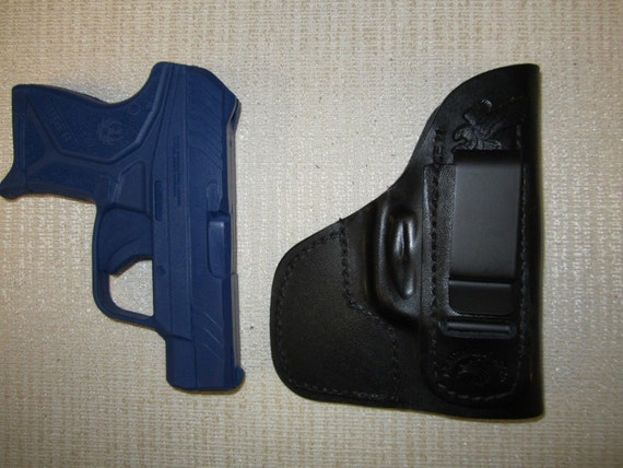 Kahr p380 with CT laser right hand WITH SWEAT SHIELD FORMED  holster IWB