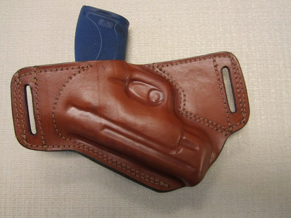 BROWN leather AMBIDEXTROUS holster S/&W M/&P SHIELD 3.3 45 CAL IWB,OWB,SOB