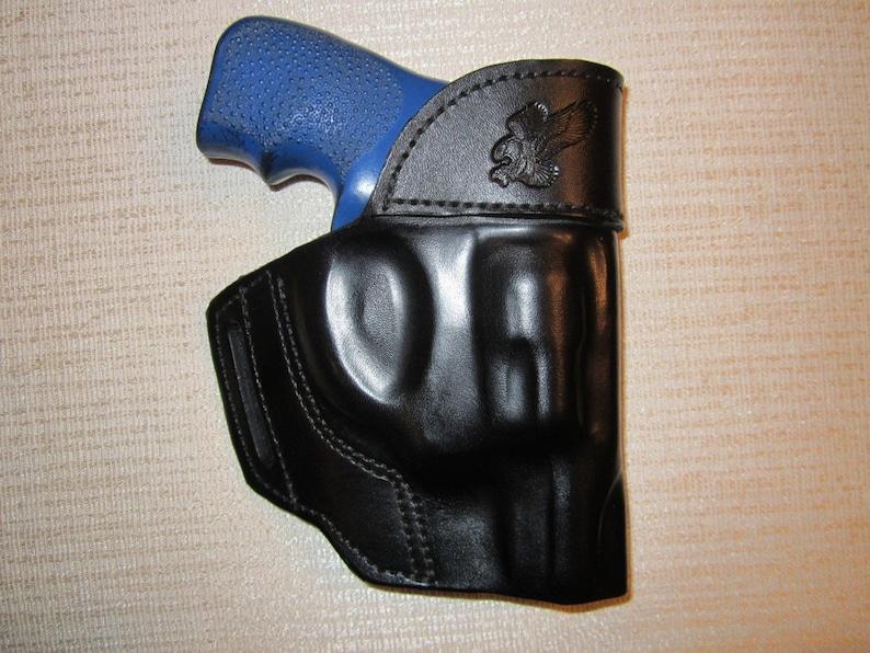 Ruger lcr revolver holster, shaped leather holster, owb belt holster