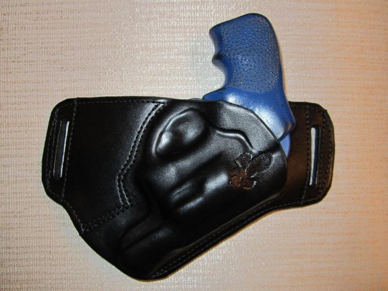 RUGER LCR 38 cal  leather sob, owb belt holster, right hand, ultra slim  design
