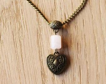 96ee7e2c157 Collier quartz rose