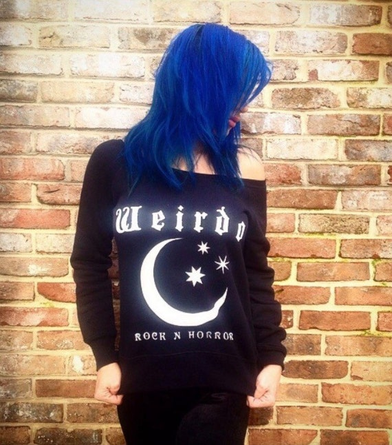 Weirdo Wideneck/Off The Shoulder Sweatshirt by Etsy