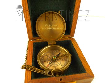 Baptism Day Gift, Baptized, Confirmed,Engraved compass with Plain Wooden box, Baptism, Confirmation Gift, Christening, Christmas gift
