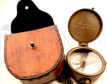 Baptism Day Gift, Baptized, Confirmed, Engraved Compass with leather case, Confirmation Gift, Baptism Gift, Christening