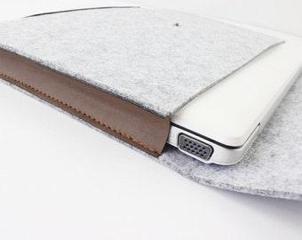 "felt Macbook Case, Laptop Sleeve, Laptop Case, 13 inch Custom Size 11""-15"" Cover, Macbook sleeve, laptop case 11""/12""/13""/14""/15"" 008LG"