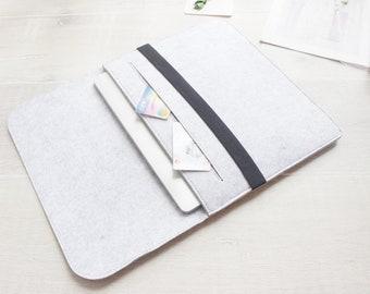 Felt 11'' iPad Pro, iPad mini 6 case, 10.5'' iPad Air, 12.9'' iPad Pro Case, iPad 9 case, ipad air case, ipad mini sleeve, iPad case 003LG