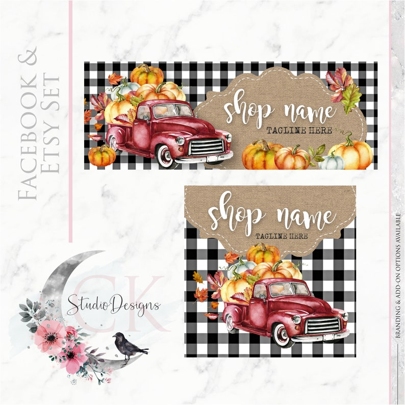 Timeline Banner Watercolor Wood Happy New Year Facebook Cover Set Facebook Business Page Set Digital Files