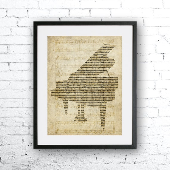 old sheet music piano old paper print old piano music home etsy