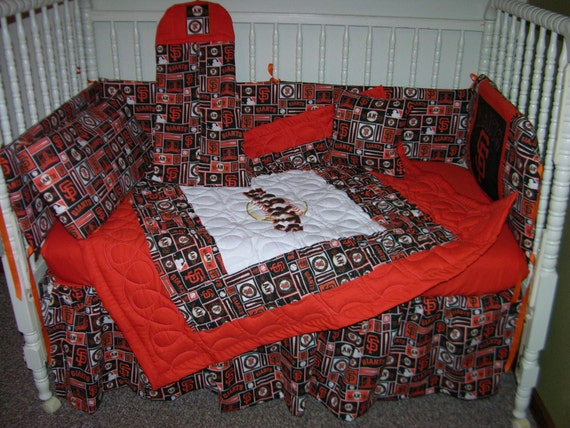 5cc61e9b New Nursery Crib Bedding Set m/w San Francisco Giants Fabric