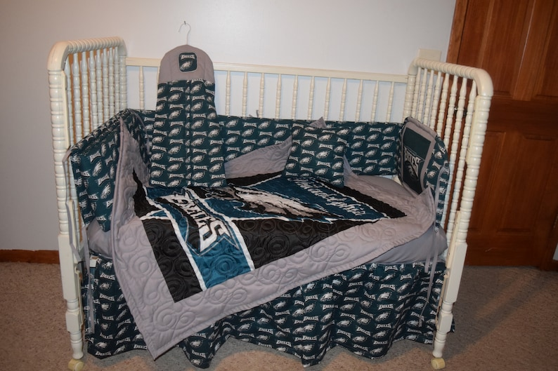 dcab3ffa New Crib Bedding m/w Philadelphia Eagles Fabric