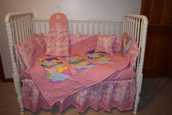 Sensational New Crib Nursery Bedding Set M W Tinkerbell Faces Fabric Unemploymentrelief Wooden Chair Designs For Living Room Unemploymentrelieforg