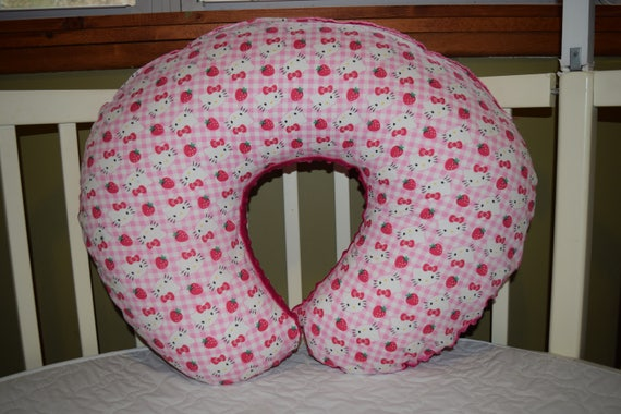 Boppy Pillow Cover Mw Hello Kitty Cotton Pink Minky Dot Etsy Mesmerizing Minnie Mouse Boppy Pillow Cover