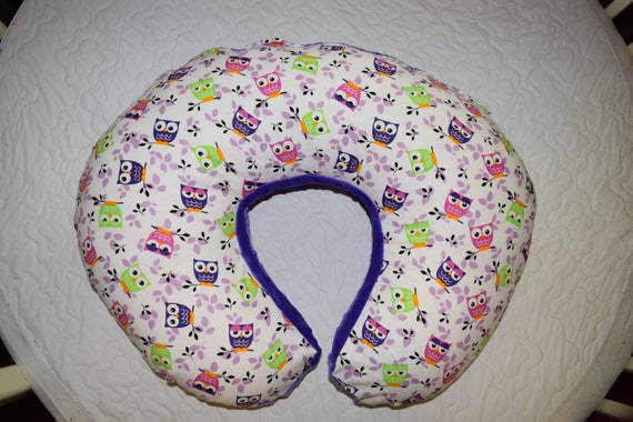 Boppy Pillow Cover mw Pink Lime Green