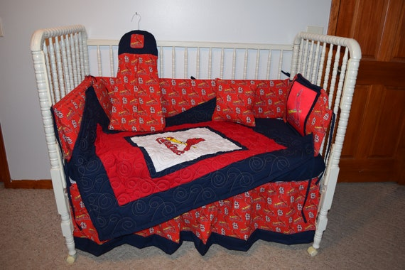 2b9ff313 New Crib Bedding Set m/w St Louis Cardinals Fabric