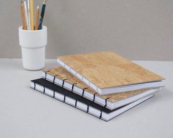 Noode A5 Portrait Faux Vegan Cork Leather Notebook