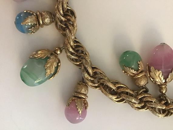 Vintage Signed Napier Charm Bracelet RARE 1950s Na